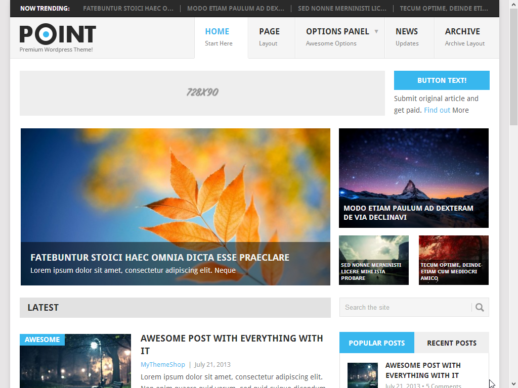Point Free Premium Blogger Template