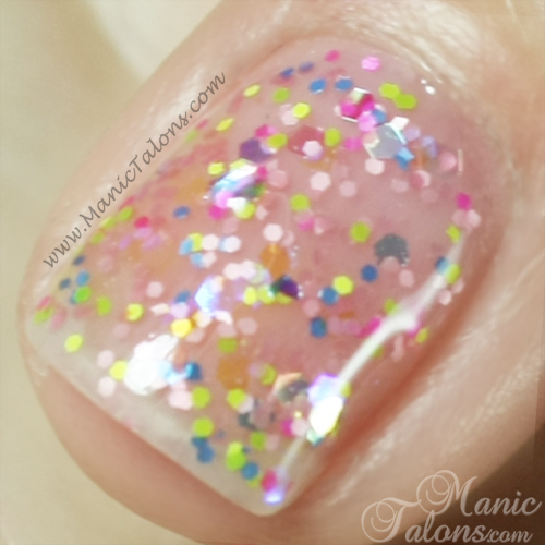 Light Elegance P+ Glitter Gel Sprinkles Swatch