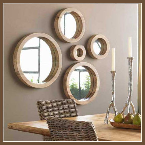 Home decor diy furnishings interior design and furniture decorating with mirrors - Home decor wall mirrors collection ...