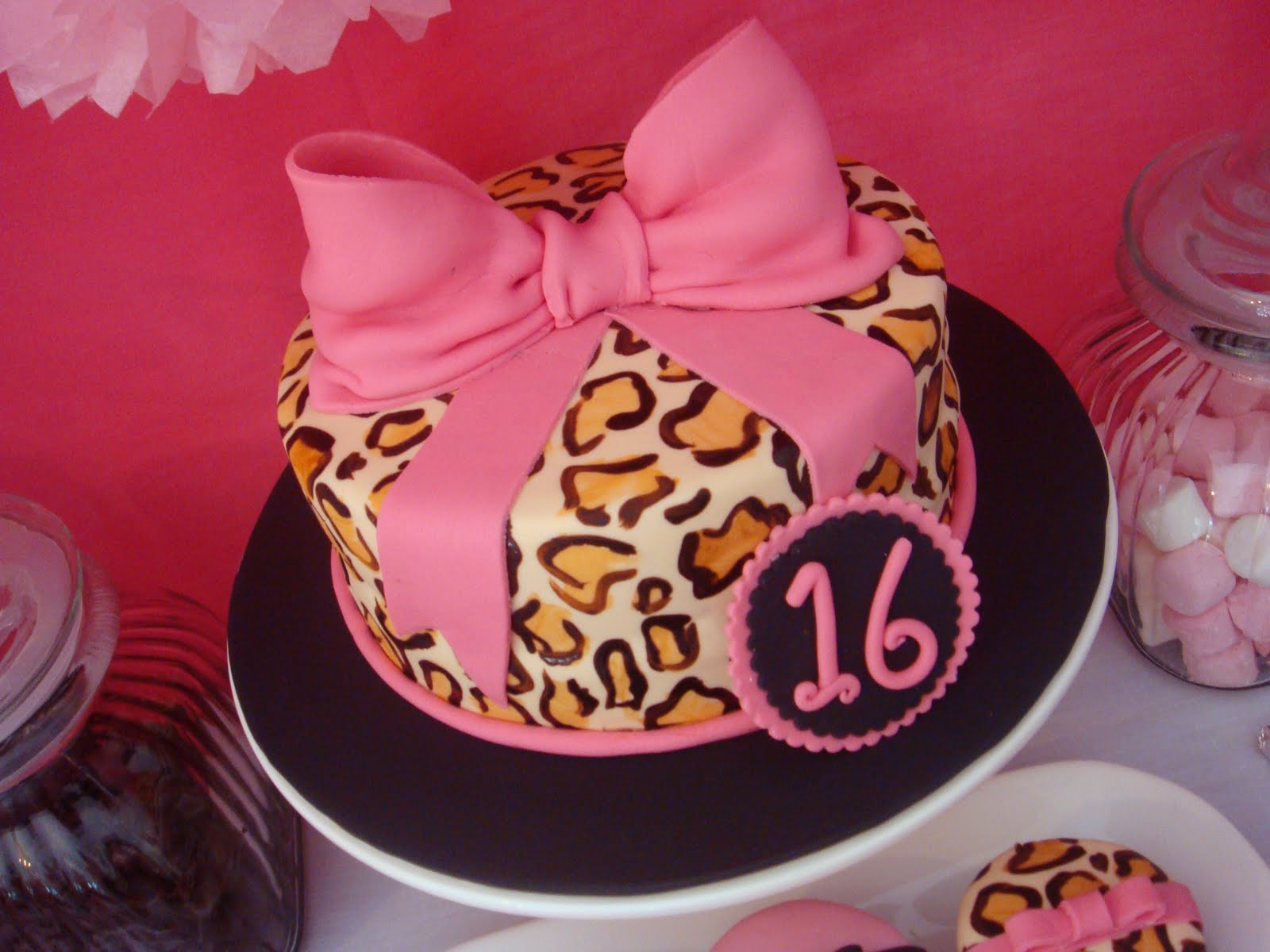 butter hearts sugar Pink and Leopard Print Birthday