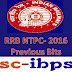 RRB NTPC -2016 :: Previous Papers Bits Set- 3
