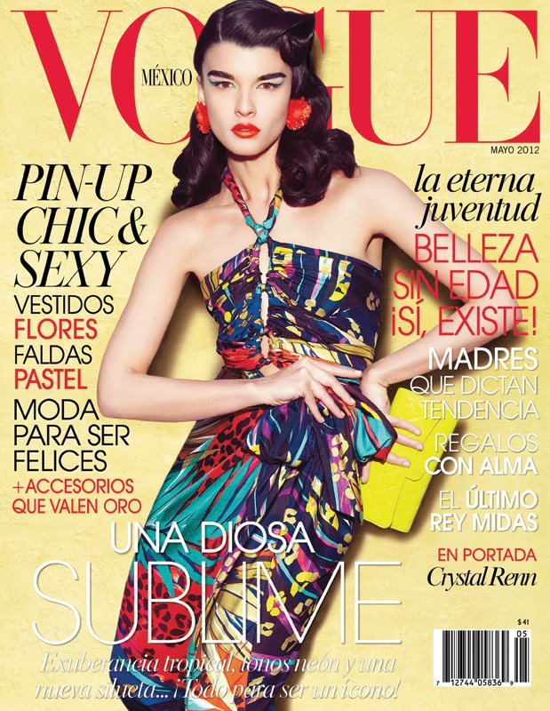 Vogue México May 2012 : Crystal Renn by Nagi Sakai