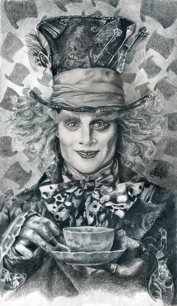 Johnny Depp Mad Hatter Drawing Mirrors: Mad Hatter - ...