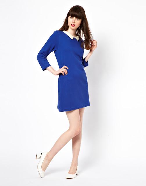 jaeger blue dress