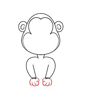 How To Draw A Cartoon Monkey Step 4