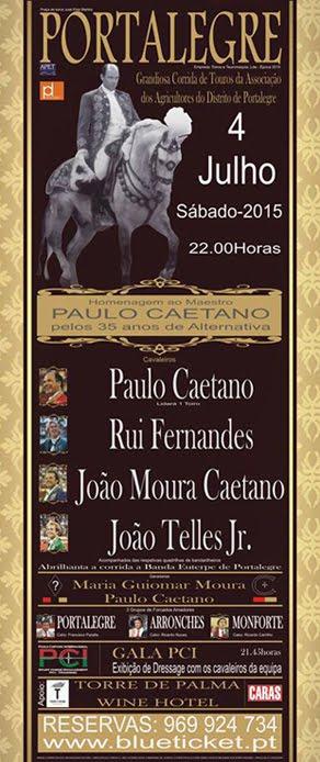 MAESTRO PAULO CAETANO ACTUA EN PORTALEGRE PARA CELEBRAR SUS 35 AÑOS ANIVERSARIO DE ALTERNATIVA.
