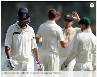 MS-Dhoni-dismissed-by-James-Pattinson-IND-vs-AUS-1st-Test