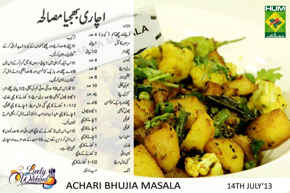 Achari bhujia masala urdu recipe chef zakirs cooking tagged urdu recipes forumfinder Choice Image