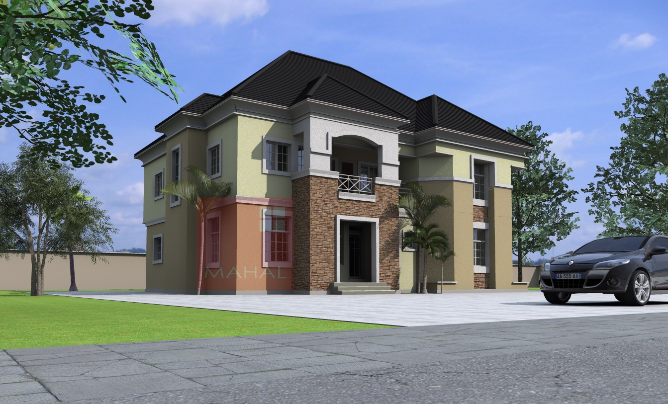 Contemporary nigerian residential architecture 5 bedroom for Nigerian architectural home designs