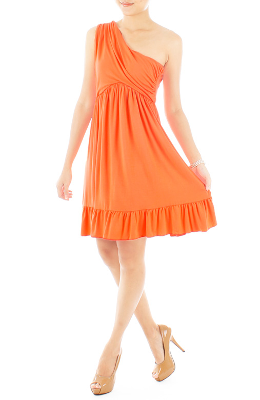Love Soiree Dress in Apricot Orange