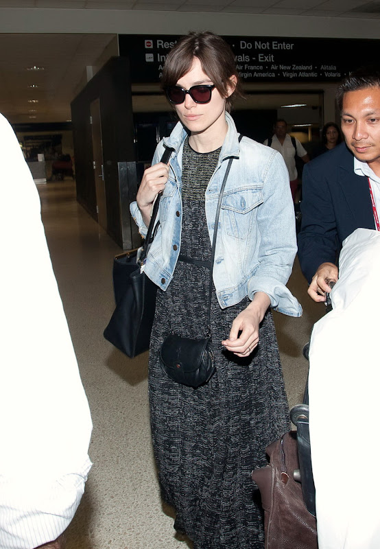 celebrity and actress Keira Knightley arrives at LAX Airport