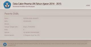 PENDATAAN UN TAHUN PELAJARAN 2014-2015