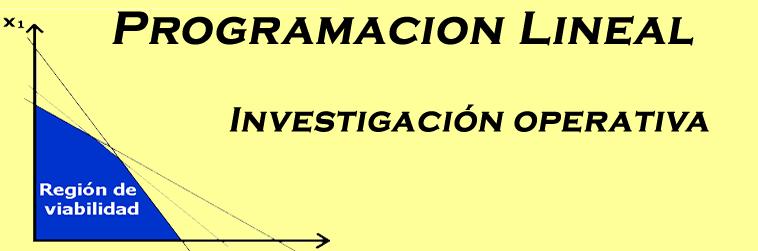 Programacion lineal