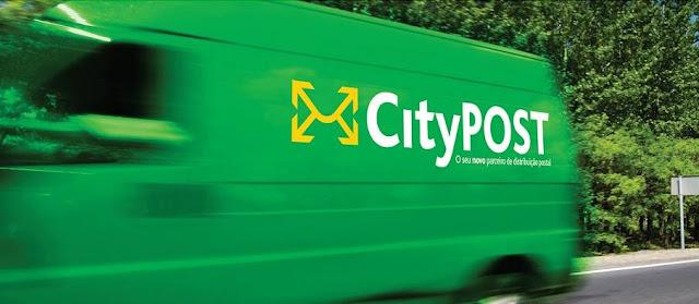 Carrinha de entregas postais da CityPost em Portugal