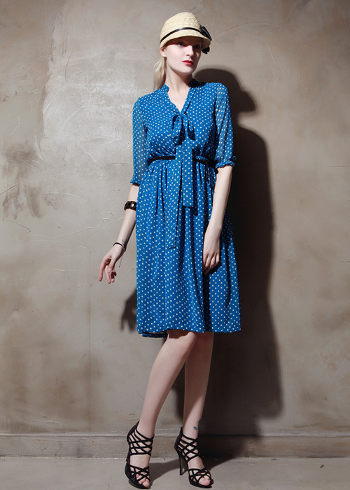 Molly Polka Dot Chiffon Dress