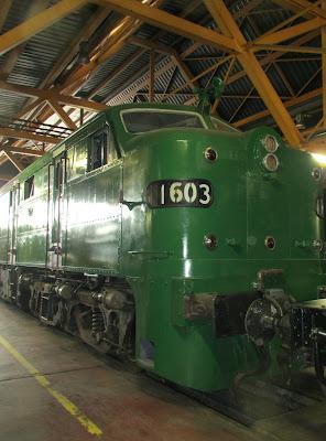 locomotora alco 1600 lleida expo tren  salon ferroviario 2013