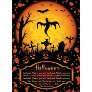 38. Free vector of Jack O' Lantern hunted graveyard background