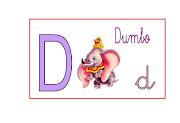 Abecedario disney letras dibujos animados