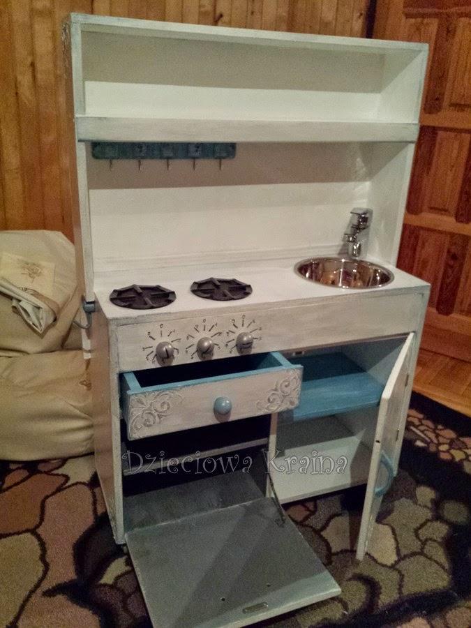 Dzieciowa Kraina Kuchnia dla dzieci DIY -> Drewniana Kuchnia Dla Dzieci Jak Zrobic