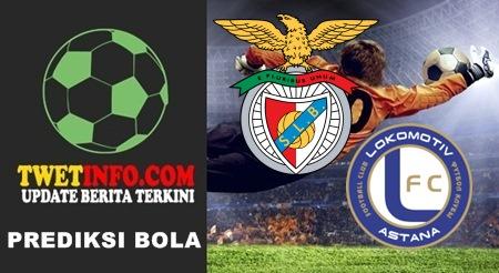 Prediksi Benfica FC vs FK Astana, UCL 16-09-2015