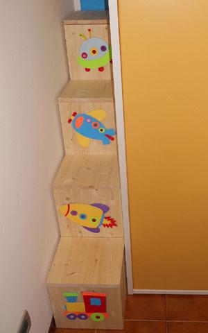 SteDeg Blog: Costruire una scala a gradini per letto a soppalco