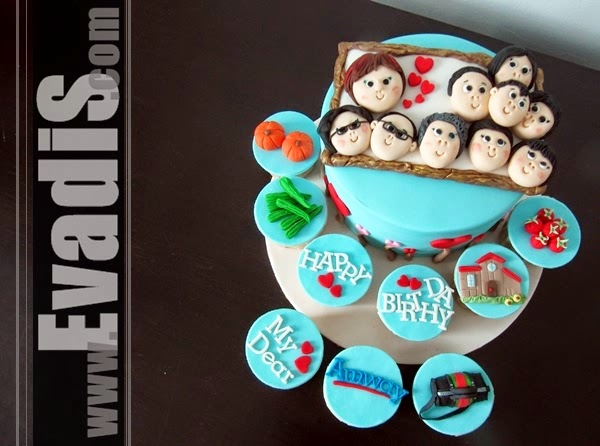 Customize cupcake picture for Family design cake