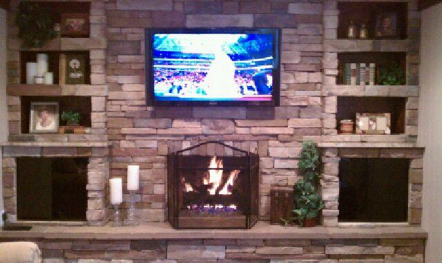 K Force Incorporated Recessed Tv Mount Over Fireplace