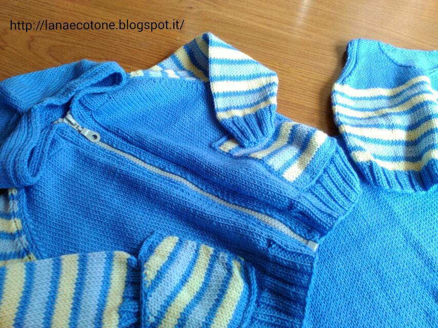 Lana e cotone maglia e uncinetto completo neonato - Bagno 37 silvana bellaria ...