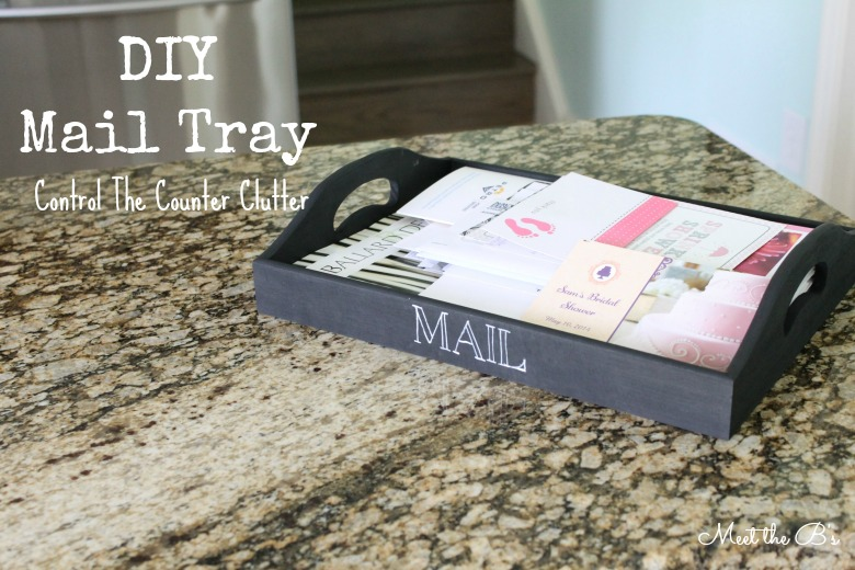 DIY Mail Storage Tray