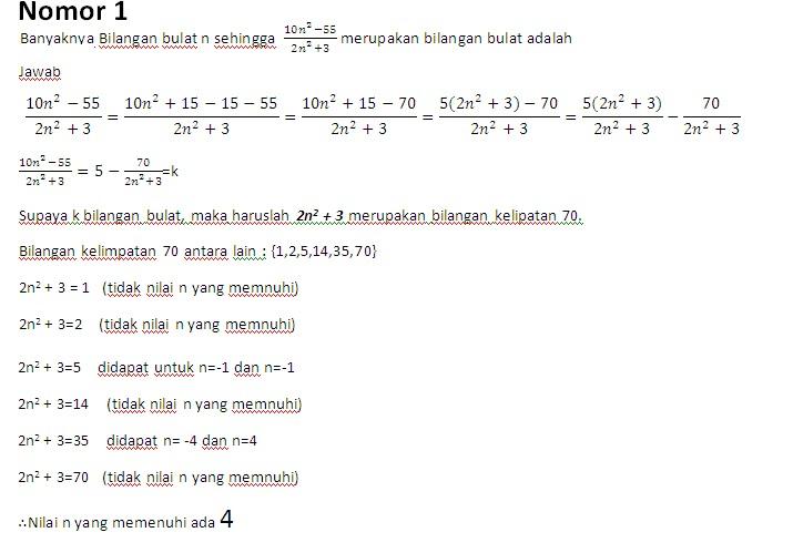 Matematika Sma Soal Amp Jawaban Olimpiade Matematika Kabupaten Kota 2012