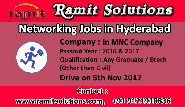 Jobs On Networking In MNC Company