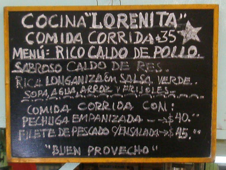 Comida Corrida Mexico Food