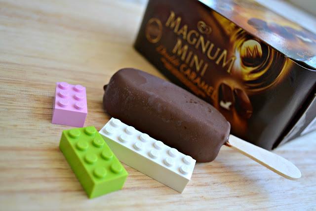 Magnum Mini ice cream bars Lego size comparison