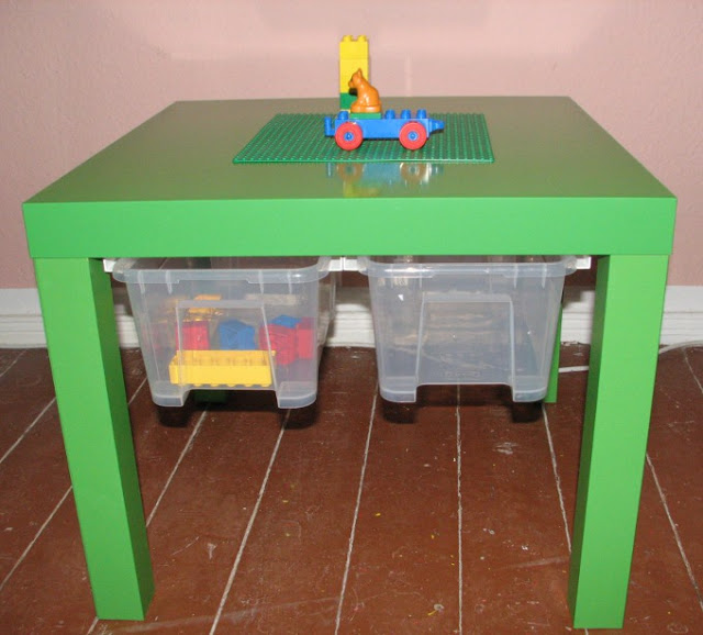 diy 4 tables customiser pour ranger les lego. Black Bedroom Furniture Sets. Home Design Ideas