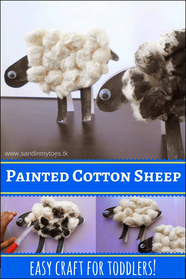 Painted Cotton Sheep - Easy craft for toddlers and preschoolers