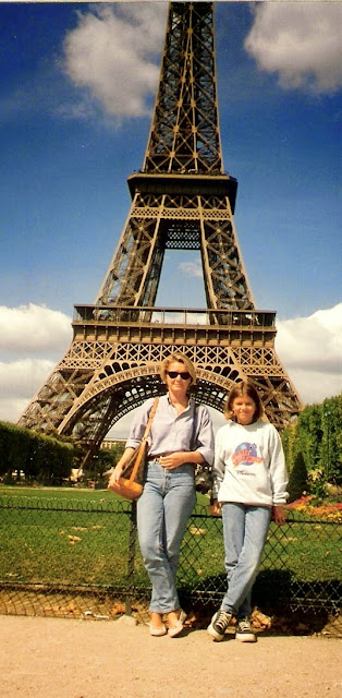 With my mum in Paris