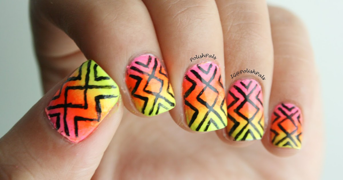 Polish Pals: Neon Tribal Nails (+ Tutorial)