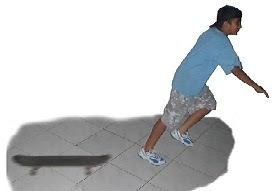 melompat dari skateboard merupakan contoh pasangan aksi reaksi