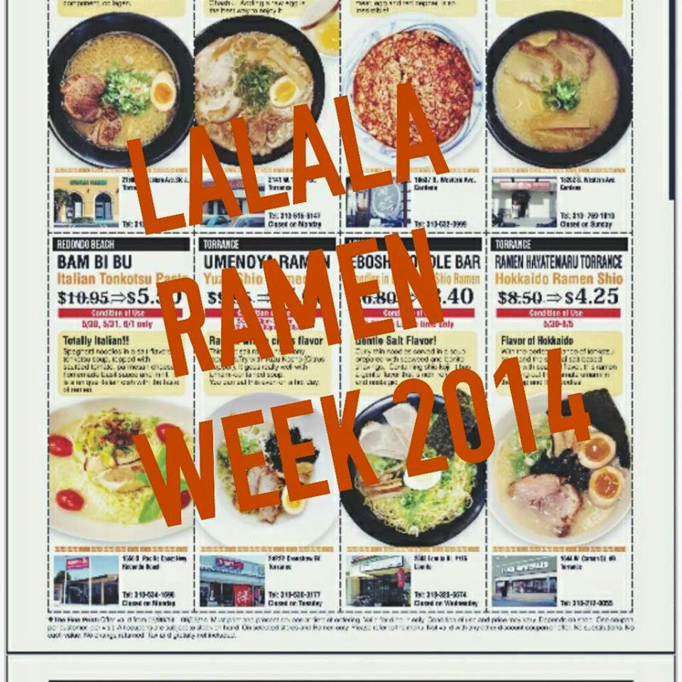 WEEKLY LALALA RAMEN WEEK 5.30 - 6.5 2014