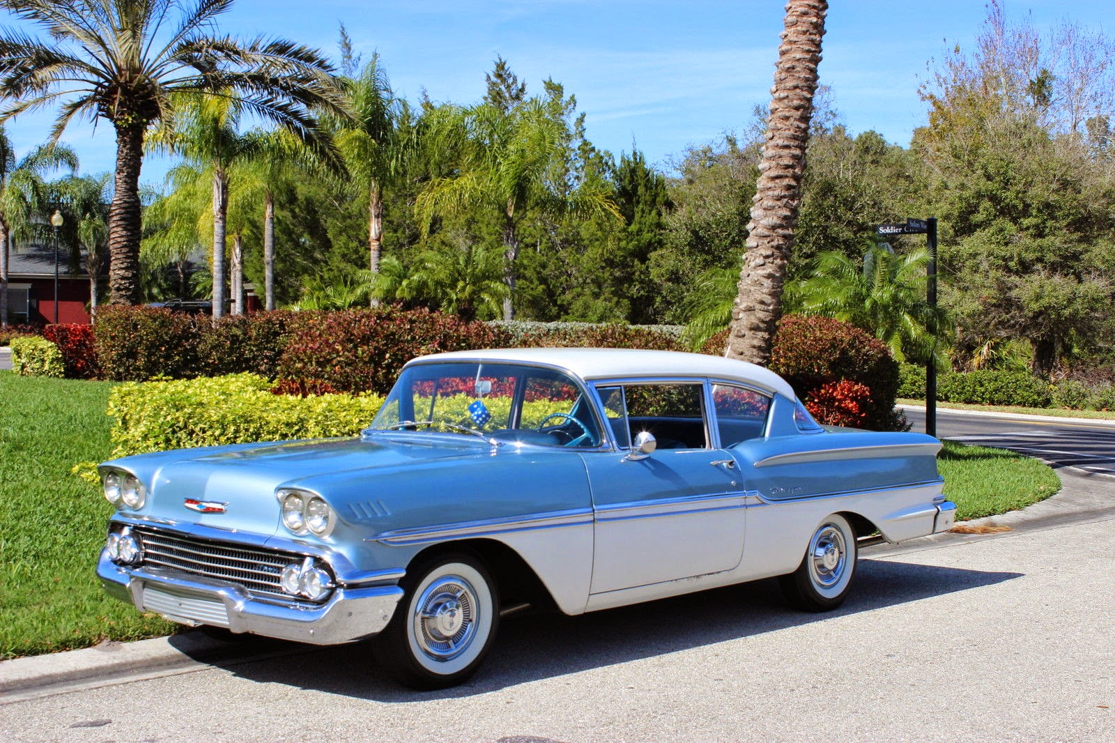 All american classic cars 1958 chevrolet biscayne 2 door for Old american cars