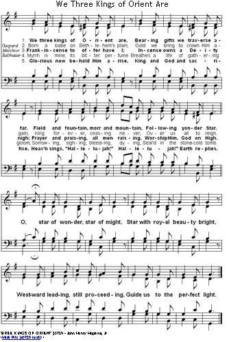 Christmas Carols Lyrics And History We Three Kings Of Orient Are