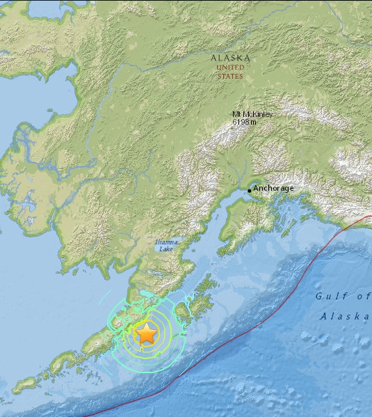 Magnitude 6.7 Earthquake of Chirikof Island, Alaska 2015-05-29
