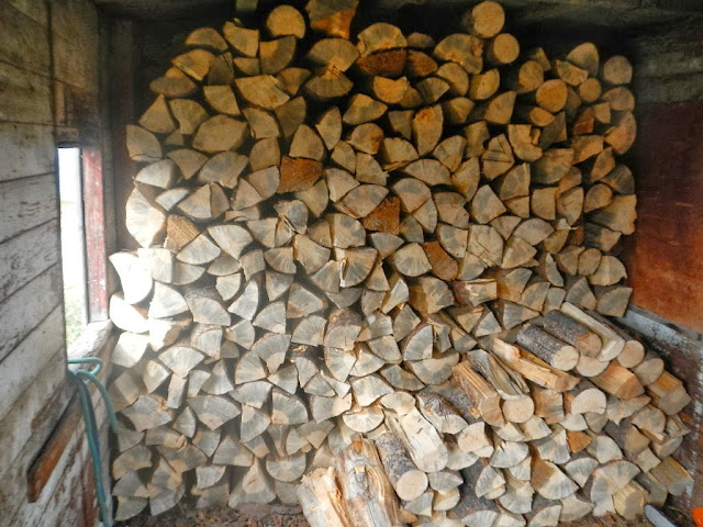 stack of lodgepole firewood