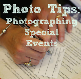 Photo Tips Friday: Photographing Special Events
