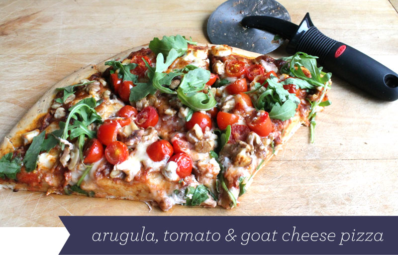 Fabric Paper Glue: Guest Post: Arugula, Tomato, & Goat Cheese Pizza
