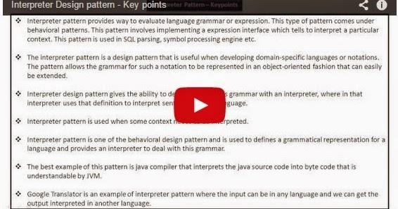 Java ee interpreter design pattern key points for Object pool design pattern java