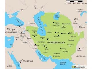 Harzemşahlar Haritası
