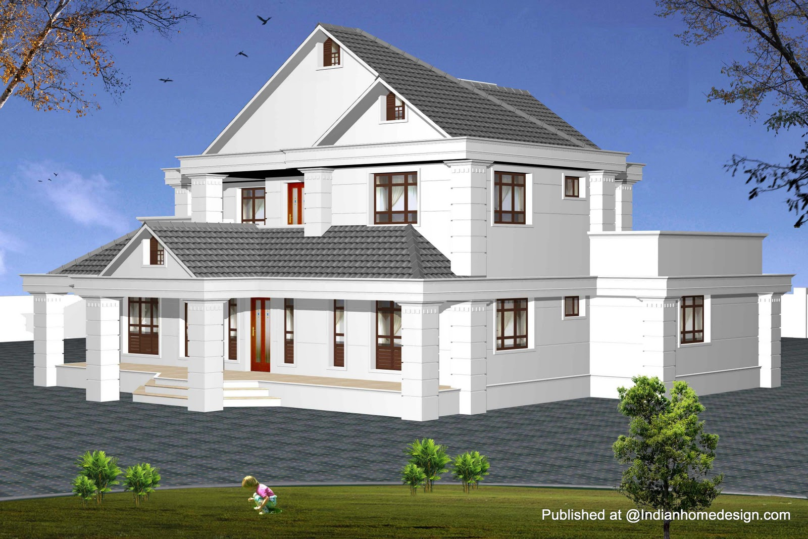 30 stunning model house plans home building plans 24879 for South indian model house plan