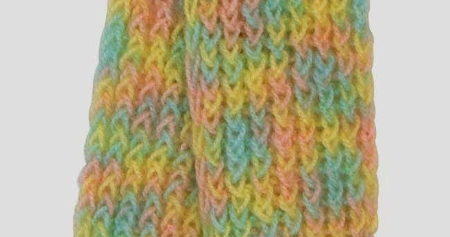 knifty knitter scarf instructions