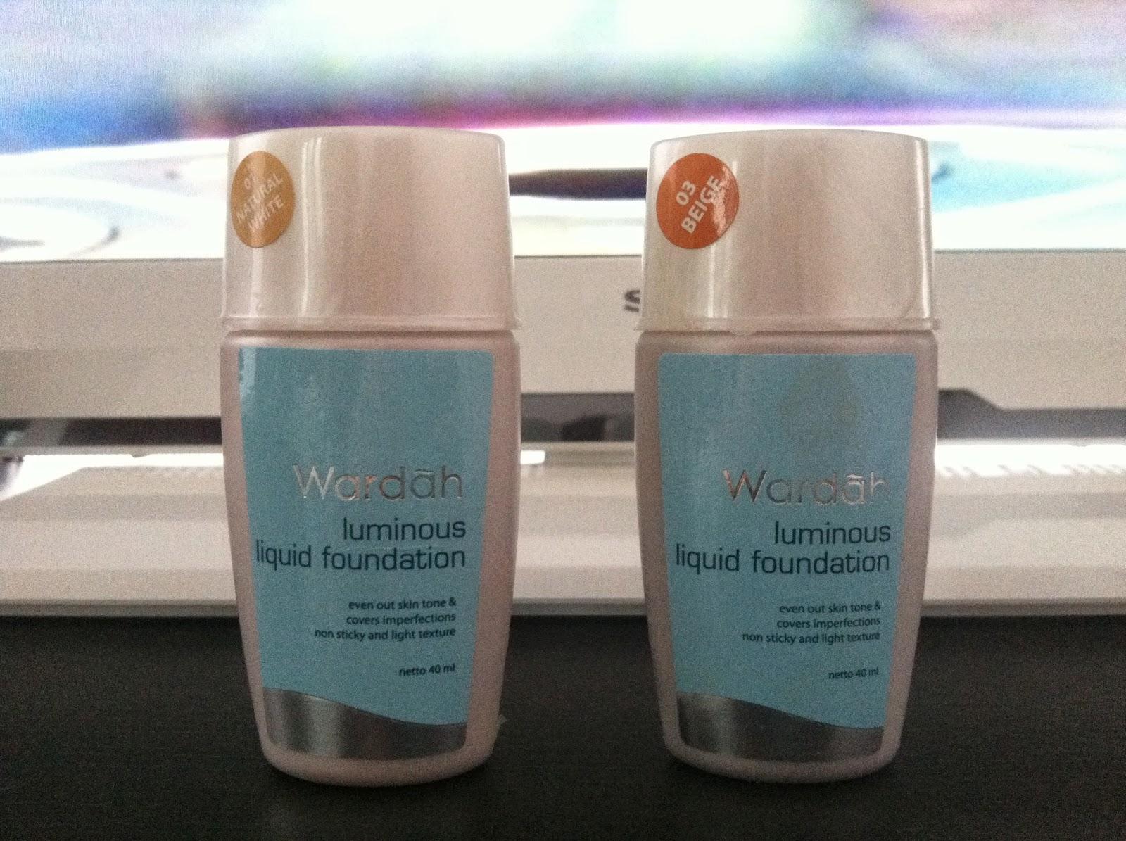 Beauty And Lifestyle Wardah Luminous Liquid Foundation Review Warda Two Way Cake